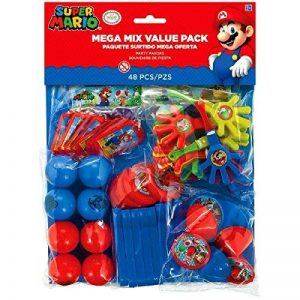 Amscan 396607 Super Mario Mega Mix Value Pack de la marque Amscan image 0 produit
