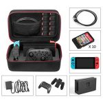 Etui pour Nintendo Switch - Younik Deluxe housse de transport à coque rigide pour Console Switch, Switch Dock, adaptateur secteur, câble HDMI, Manette Pro et 10 cartouches de jeu de la marque Younik image 1 produit