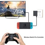 MallTEK Nintendo Switch Wireless Controller, Manette Sans fil pour Nintendo Switch Gamepad Joystick avec Gyro Axis Dual Shock Vibration Wireless Gamepad Controller Manette pour Nintendo Switch Support Smash Bros. / Star Allies / Zelda / Mario Odyssey etc. image 2 produit