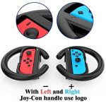 Nintendo Switch Joy-Con Grips Lammcou Volants pour Joy-Cons de Nintendo Switch pour Mario Kart 8 Deluxe, Gear Club Unlimited, Cars 3 Driven To Win, Team Sonic Racing, Just Dance 2018, Fifa 18, 2 x Contrôleur de Voiture de Course Accessoire de Roue à Quai image 3 produit