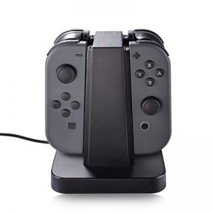 Nintendo Switch Joy Con Station de Charge, Sunix 4 en 1 Support de Recharge avec Indication LED pour Nintendo Switch Joy Con de la marque Sunix image 0 produit